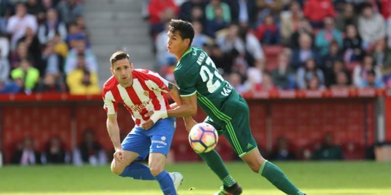 El Betis sólo ha perdido uno de los diez últimos partidos contra el Sporting  de Gijón a domicilio