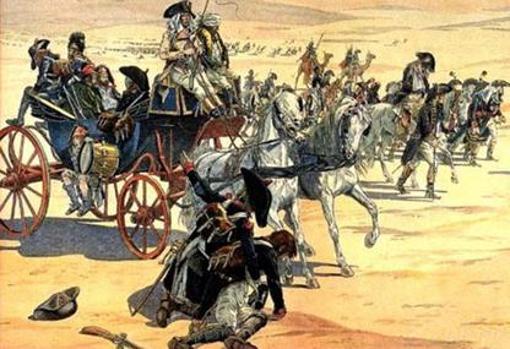 Napoleón curza el desierto junto a sus hombres