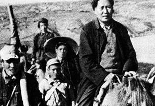 Mao, durante la Larga Marcha