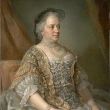 María Teresa en 1762, por Jean-Étienne Liotard.