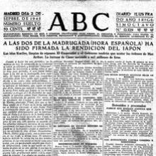 ABC, el 2 de septiembre de 1945