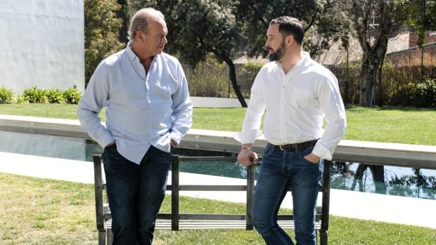 Bertín Osborne y Santiago Abascal, en «Mi casa es la tuya»