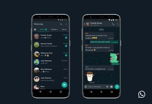 WhatsApp dark mode on Android phones