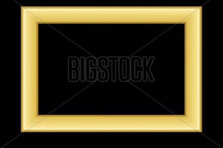 Gold Frame  Beautiful Vector   Photo  Free Trial    Bigstock Beautiful simple golden design  Vintage style decorative border  isolated  on black