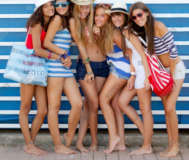 Teen Fashion Models In Summer Beach Clothing