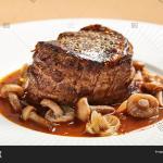 Filet Mignon Served Image Photo Free Trial Bigstock