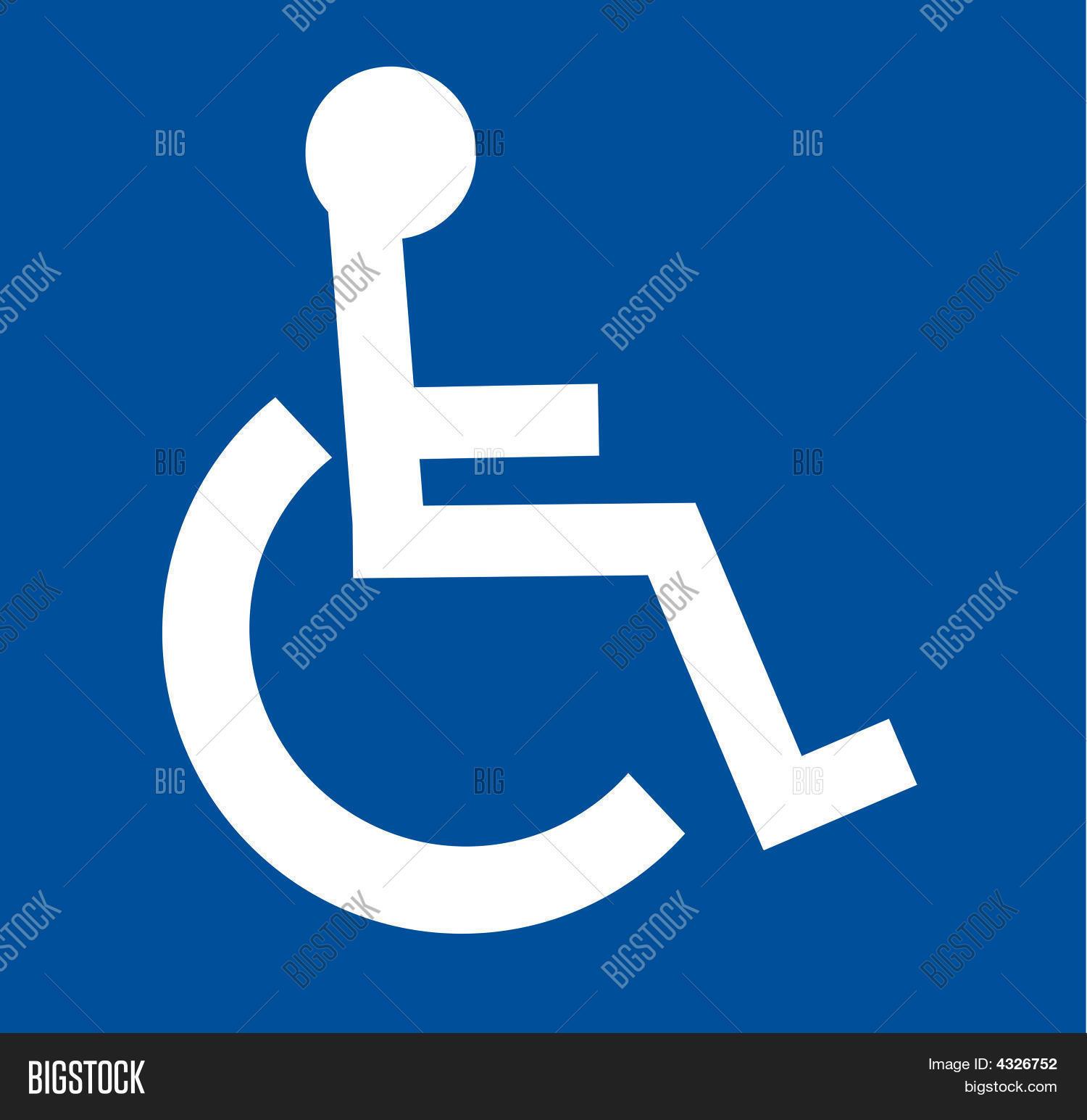 Handicap Symbol Vector & Photo (Free Trial) | Bigstock