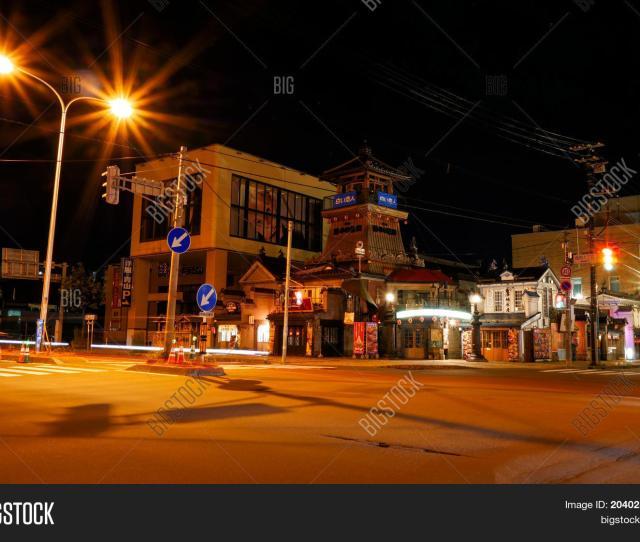 Otaru Japan July 26 2017 Otaru City Center Popular Tourist Destination At Night Hokkaido