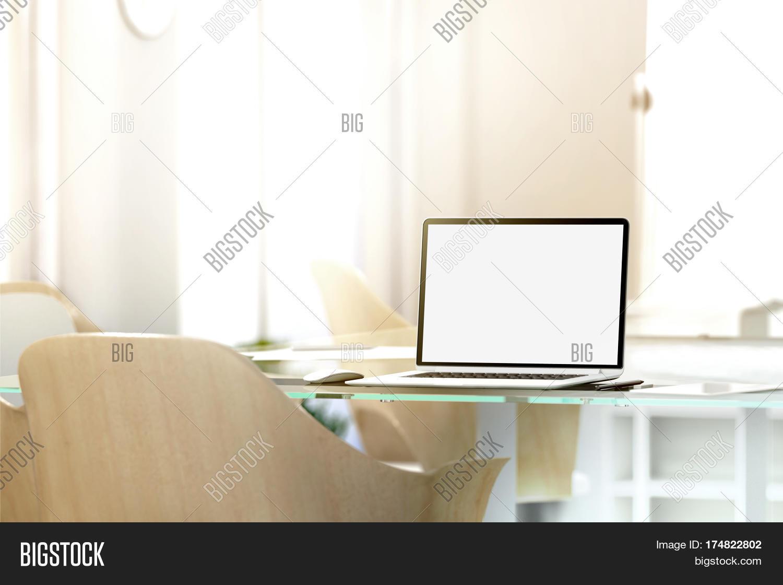 Blank Laptop Screen Image Photo Free Trial Bigstock