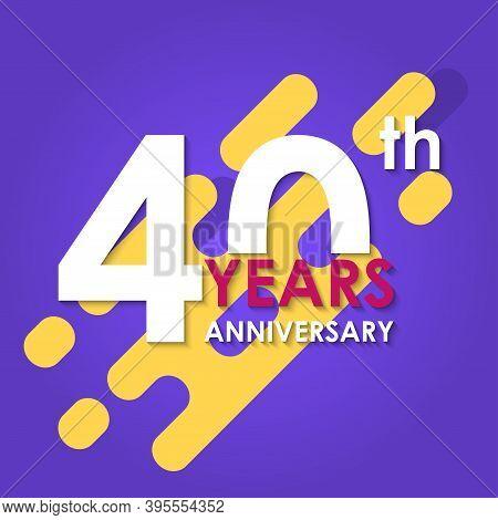 40 years anniversary vector photo
