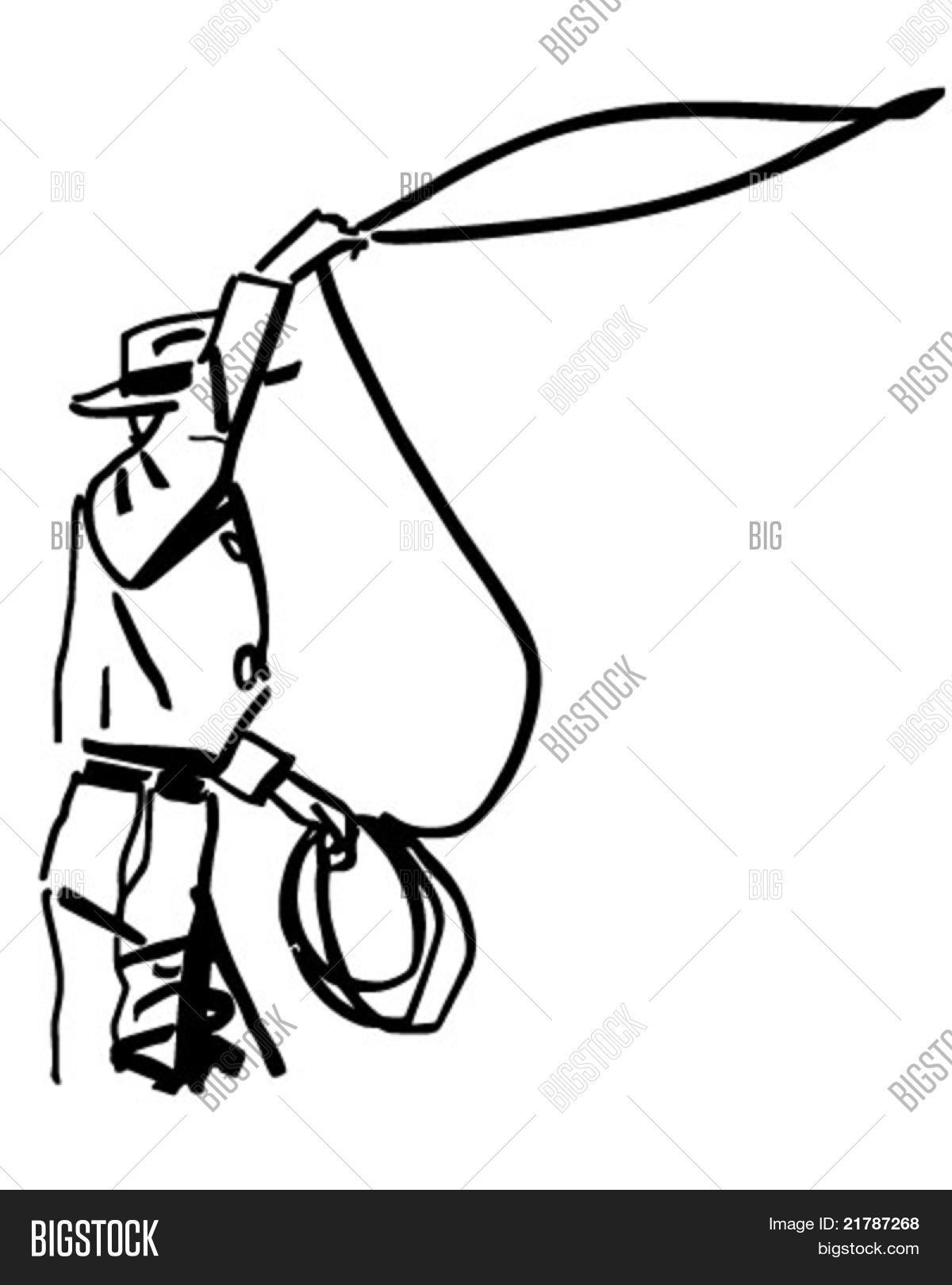 Cowboy Throwing Lasso Vector Amp Photo Free Trial