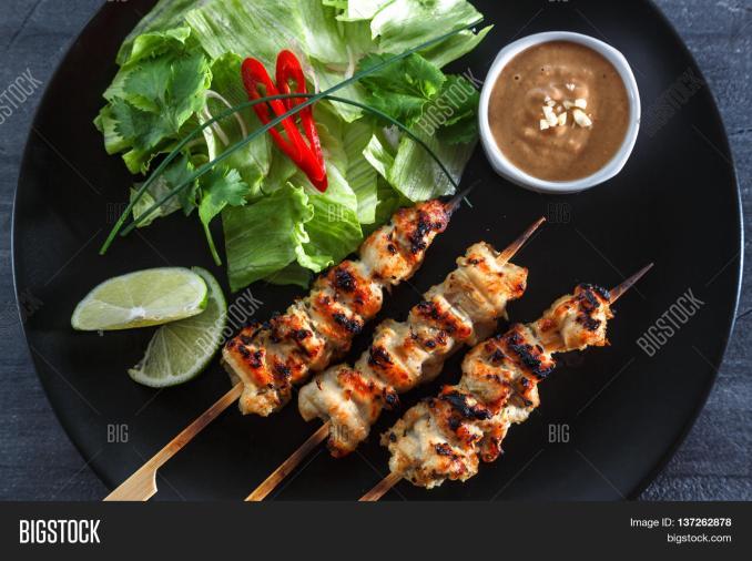 Chicken Satay Sate Image & Photo (Free Trial) | Bigstock