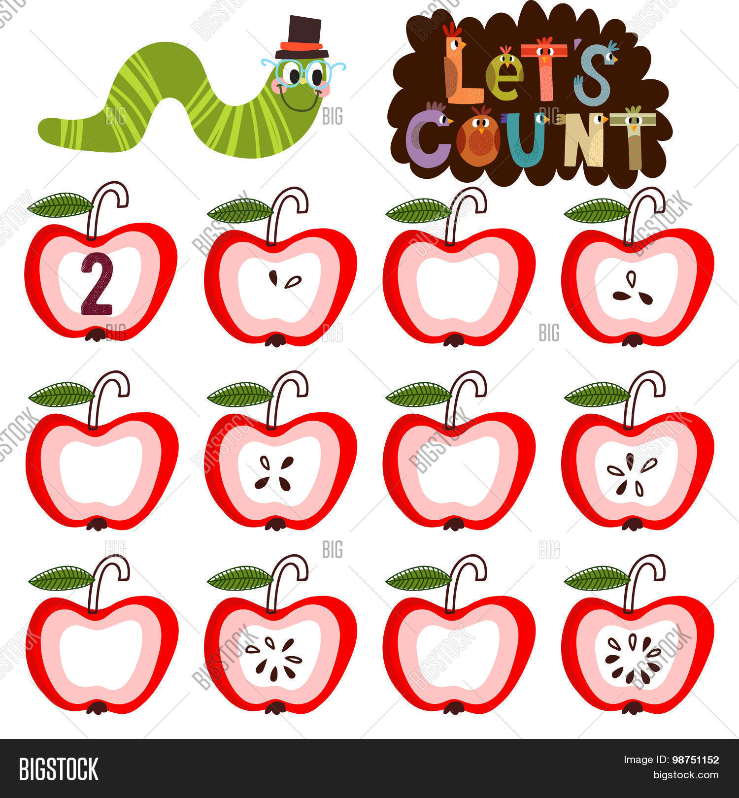 Let S Count Learn Vector Amp Photo Free Trial