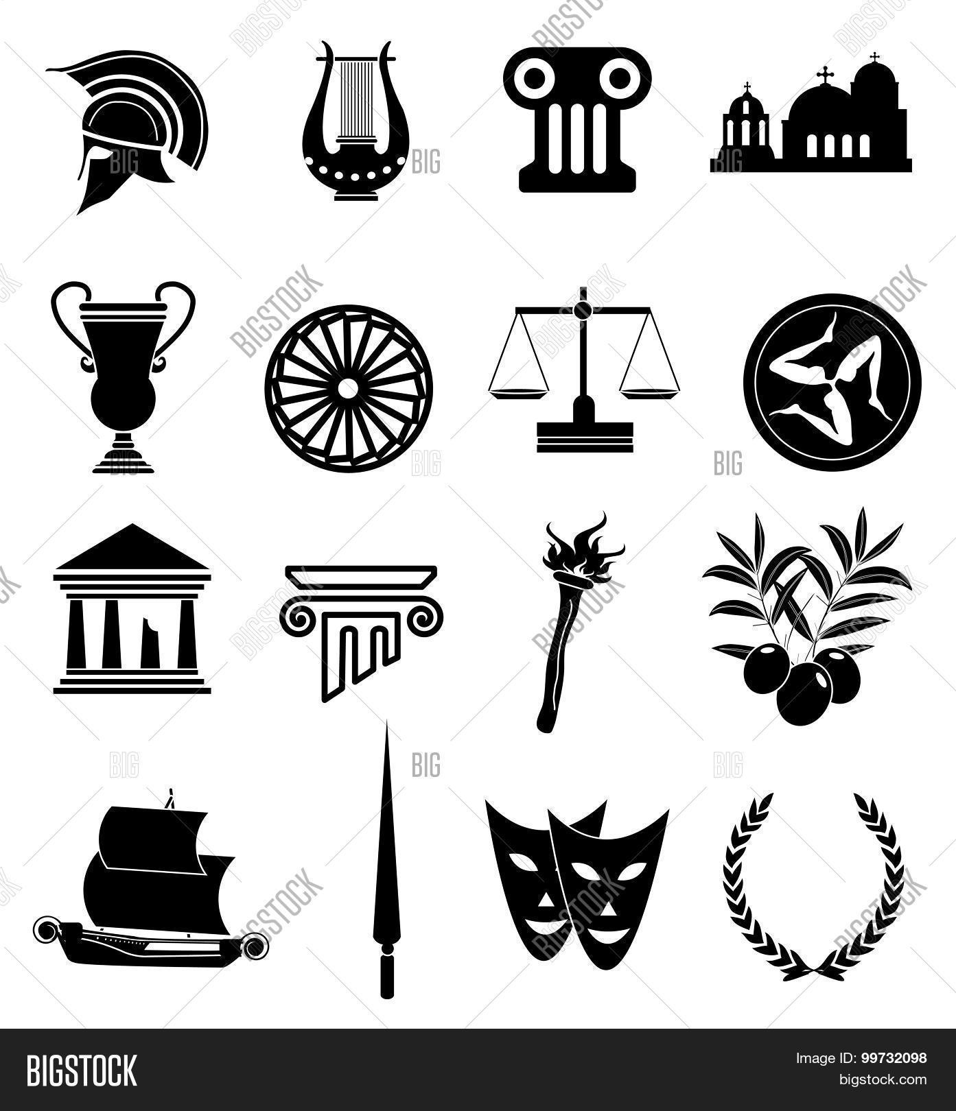 Ancient Rome Icons Vector Amp Photo Free Trial