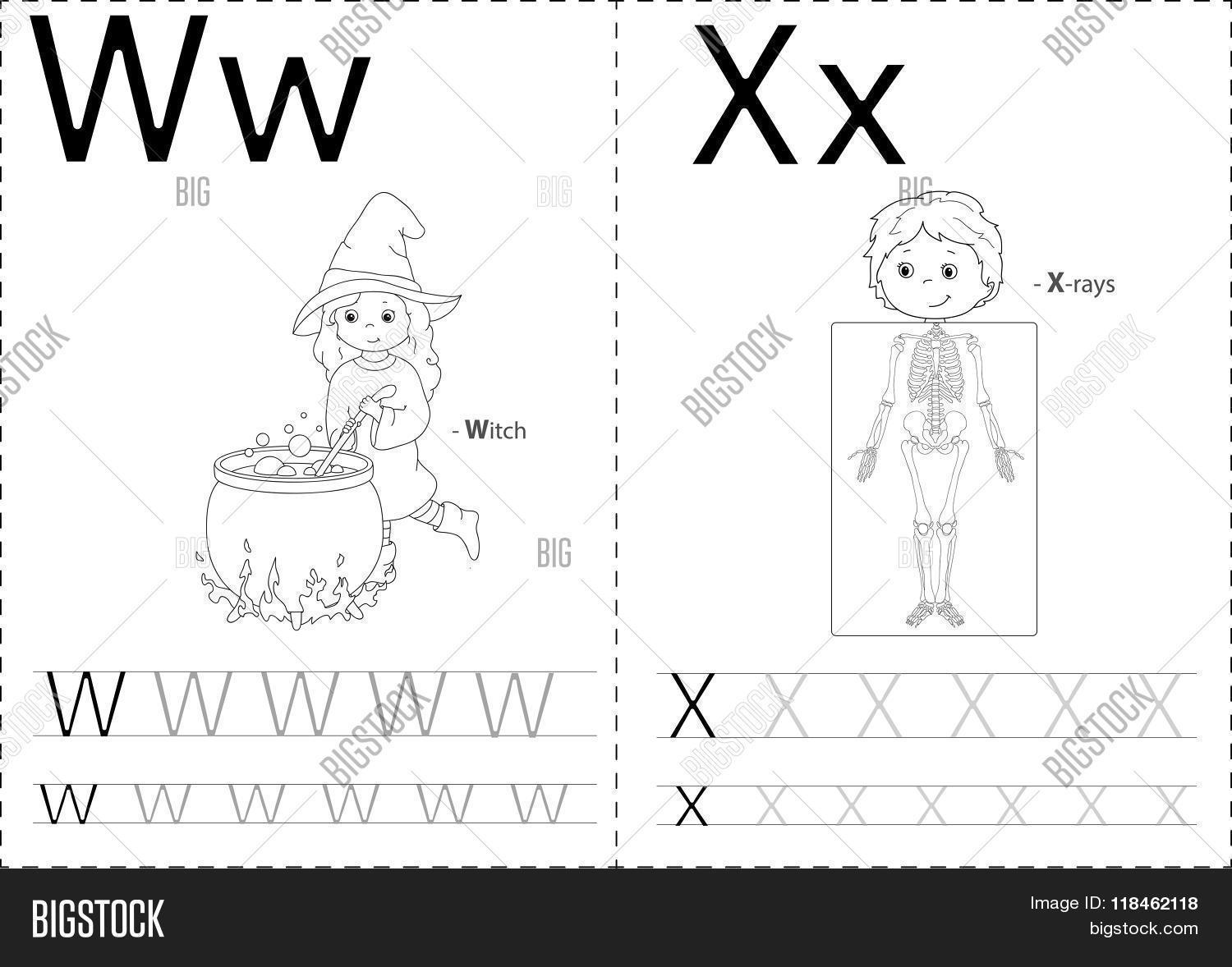 Cartoon Witch X Rays Alphabet Vector Amp Photo