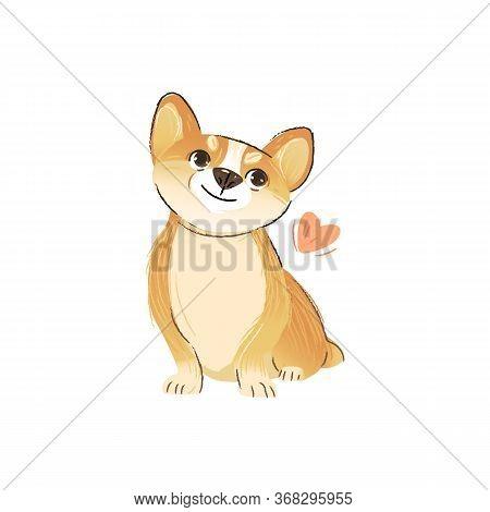 Download Cute Corgi Puppy Love Vector & Photo (Free Trial) | Bigstock