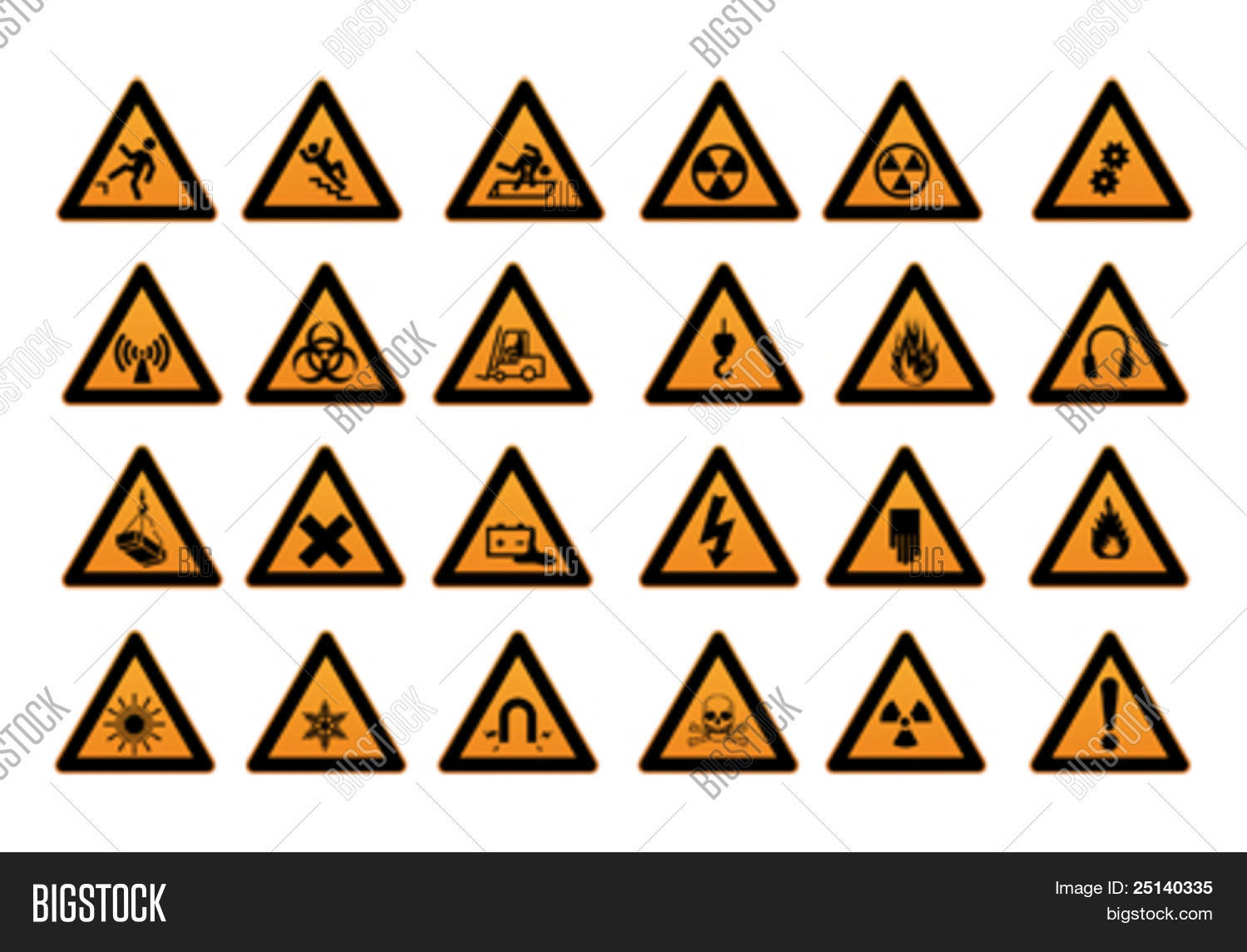 Work Safety Signs Symbols Vector Amp Photo