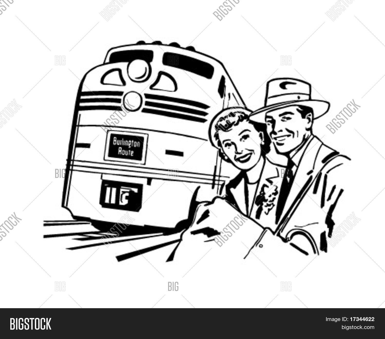 Vektorgrafik Und Foto Reisen Sie Mit Dem Zug