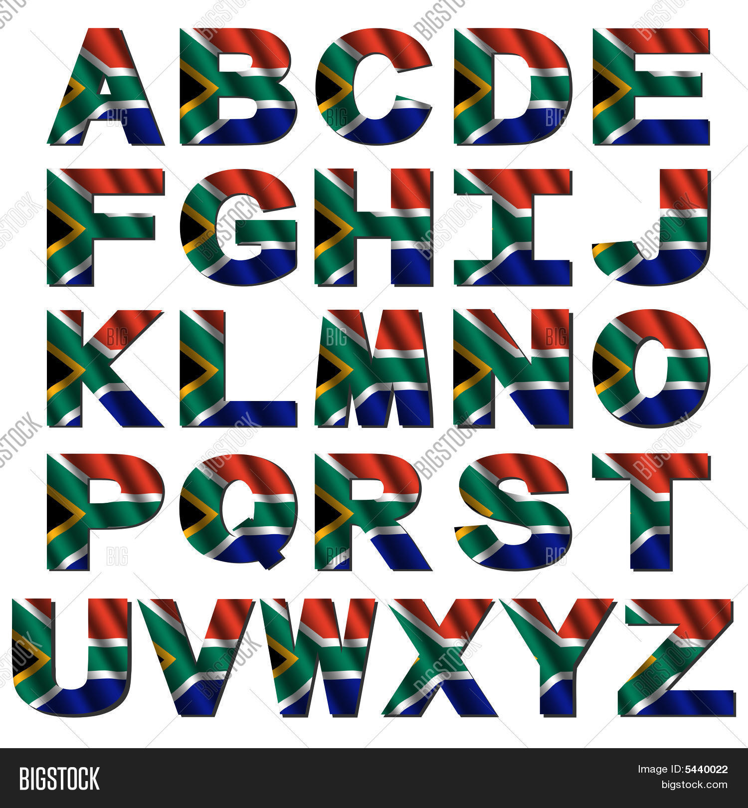 South Africa Flag Alphabet Stock Photo Amp Stock Images