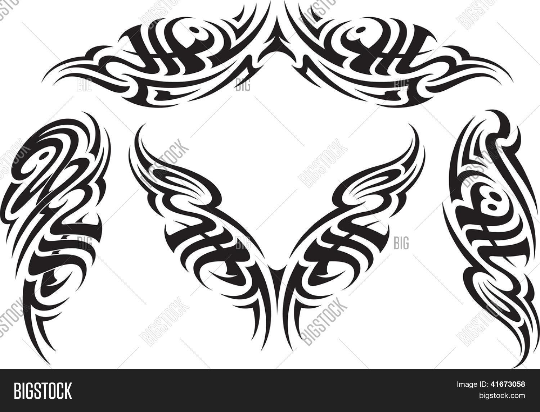 Padroes De Estilo De Tatuagem Tribal Apto Para Uma Costas