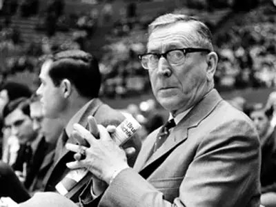 Legendary basketball coach John Wooden says it's a matter of satisfaction.