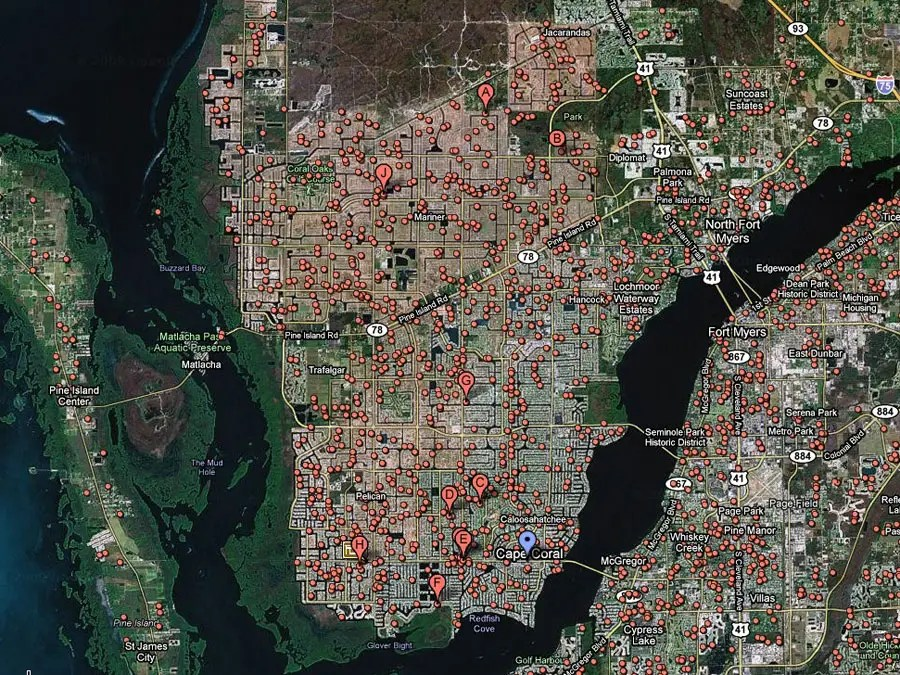 Cape Coral, Fla. -- 1 in 12 homes in foreclosure