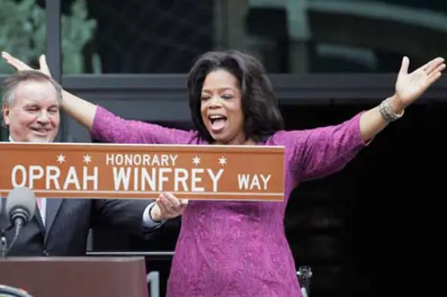 "She's even got her own street: Chicago Mayor Richard Daley renamed the blocks in front of Harpo Studios ""Oprah Winfrey Way"" earlier this month."