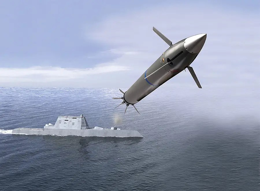 And finally, the new Long Range Attack Projectile (LRAP) — The DDG 1000 will be armed with tactical tomahawks, standard missile SM-3s, and the evolved SeaSparrow missile.