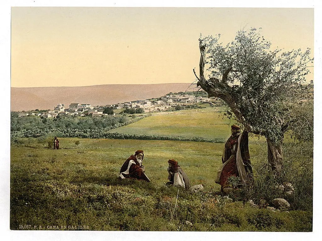 A relaxing afternoon in the fields by Cana of Galilee.