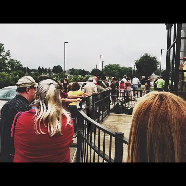 A line in Pennsylvania.