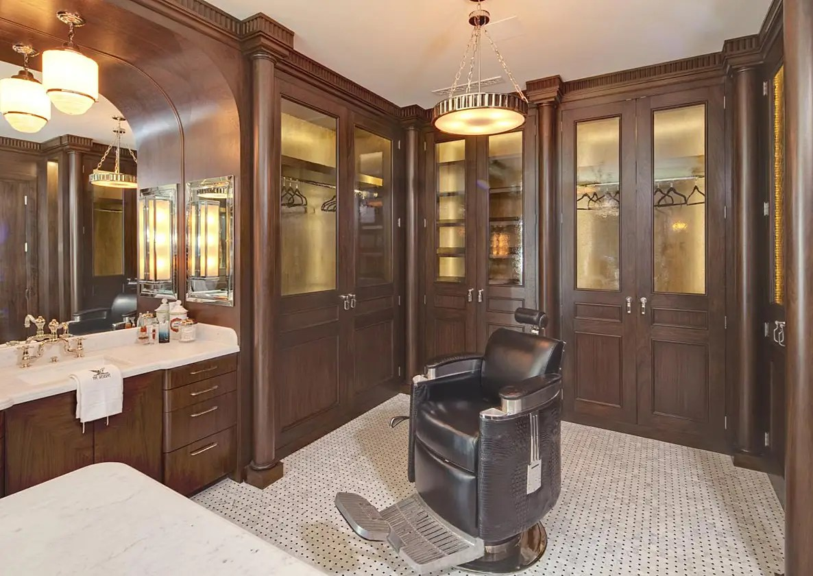 It even has its own barber chair.