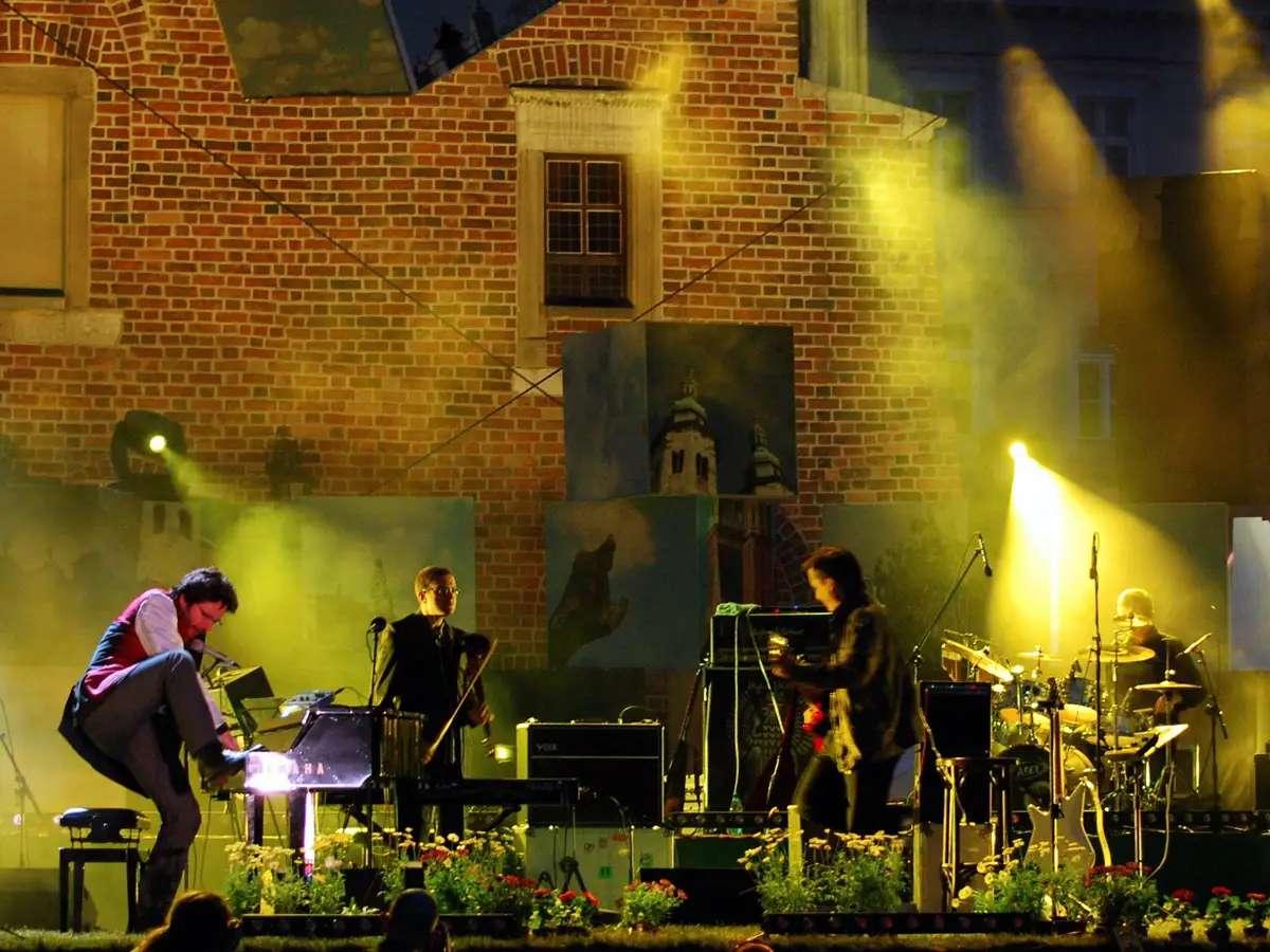 Dance to klezmer music in Krakow, Poland.