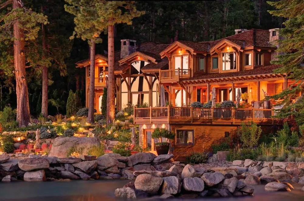 This 2.5-acre home in Snug Harbor, just one of three parcels Ellison owns in Lake Tahoe, is currently on the market for $28.5 million. He's reportedly working on building another home that's three times the size of this one, with 18,000 square feet of living space in addition to an island, waterfalls, and a tennis court.