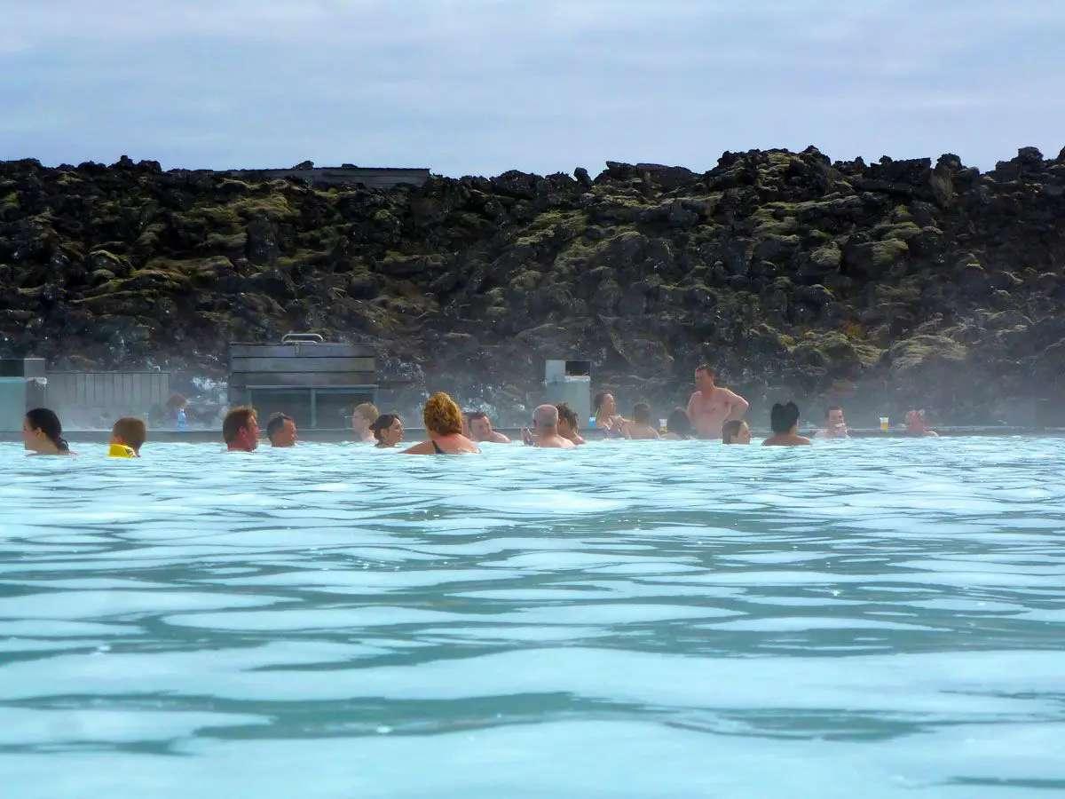 Soak in the steamy waters of the Blue Lagoon, outside of Reykjavík, Iceland.