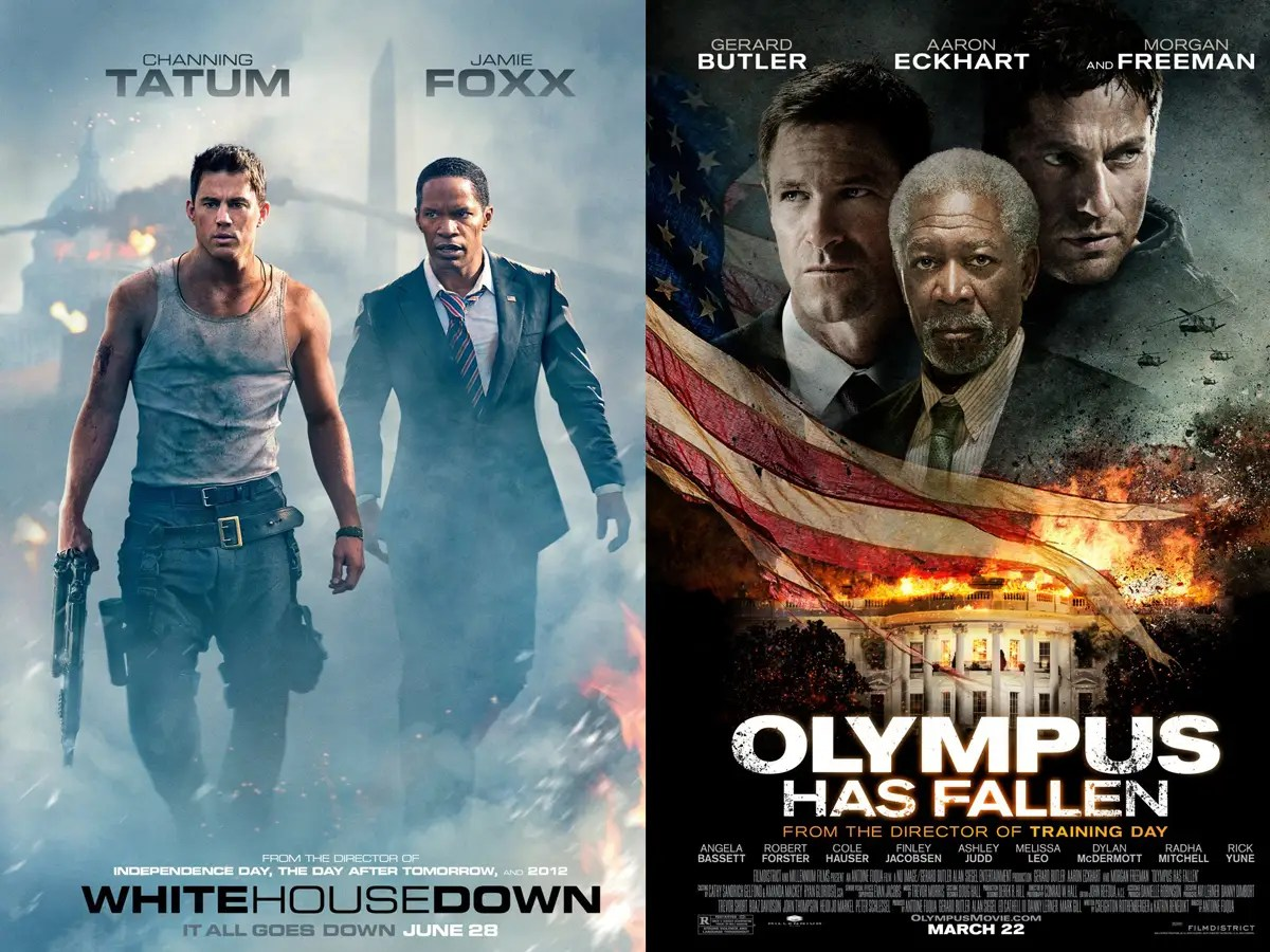 """White House Down"" and ""Olympus Has Fallen"" may also make you proud to be an American"
