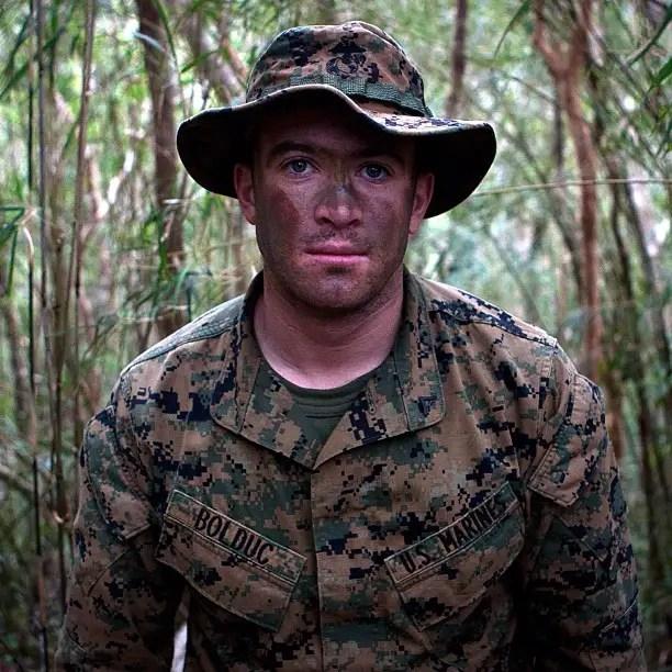 In the bamboo shoot. Mountain Warfare Training Center.