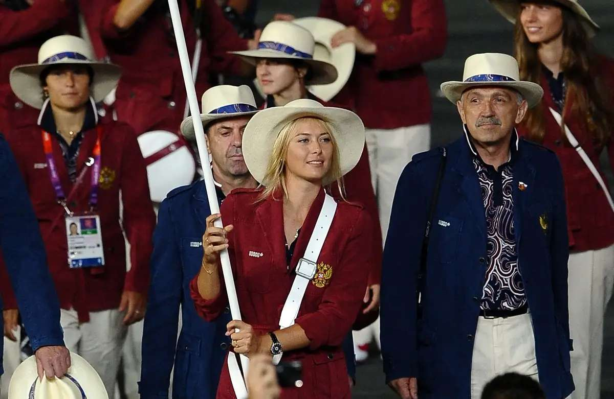Sharapova carried the Russian flag at the 2012 Olympics. But she lives in Florida when she's not traveling