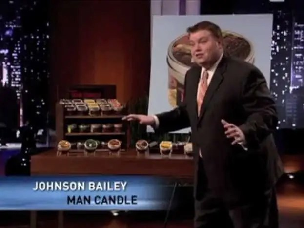 Johnson Bailey presents the Man Candle in the second season.