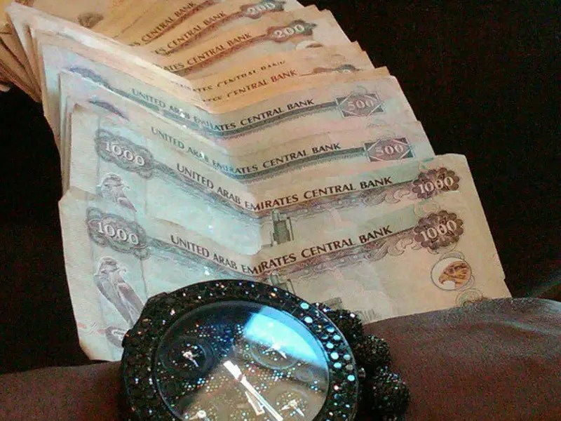 He took a picture of thousand-dollar bills in the U.A.E.