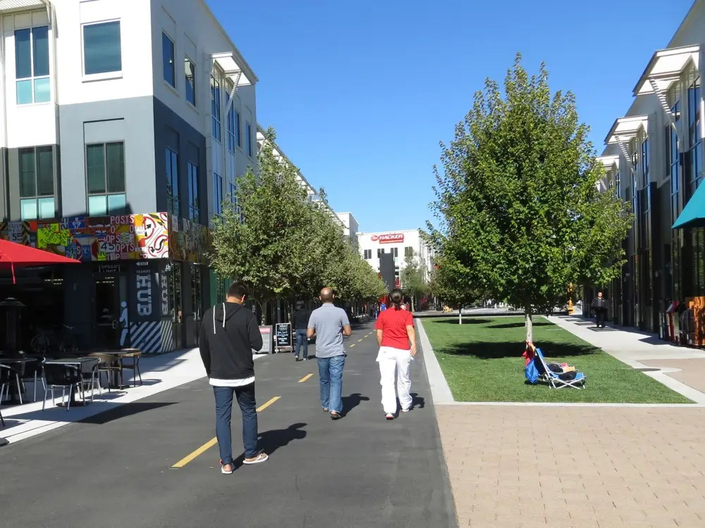 Because Facebook wants its campus to look like Palo Alto ...