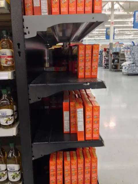 Rice wal-mart empty shelves