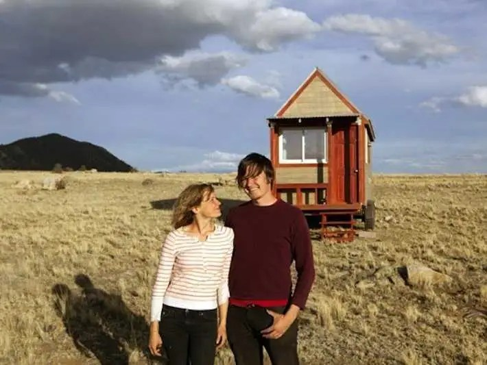 A Colorado couple built this 124 square-foot home that has a kitchen, bathroom and sleeping loft.