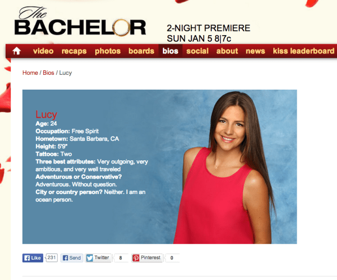 For a little while, Spiegel dated a woman named Lucy, who ended up as a contestant on