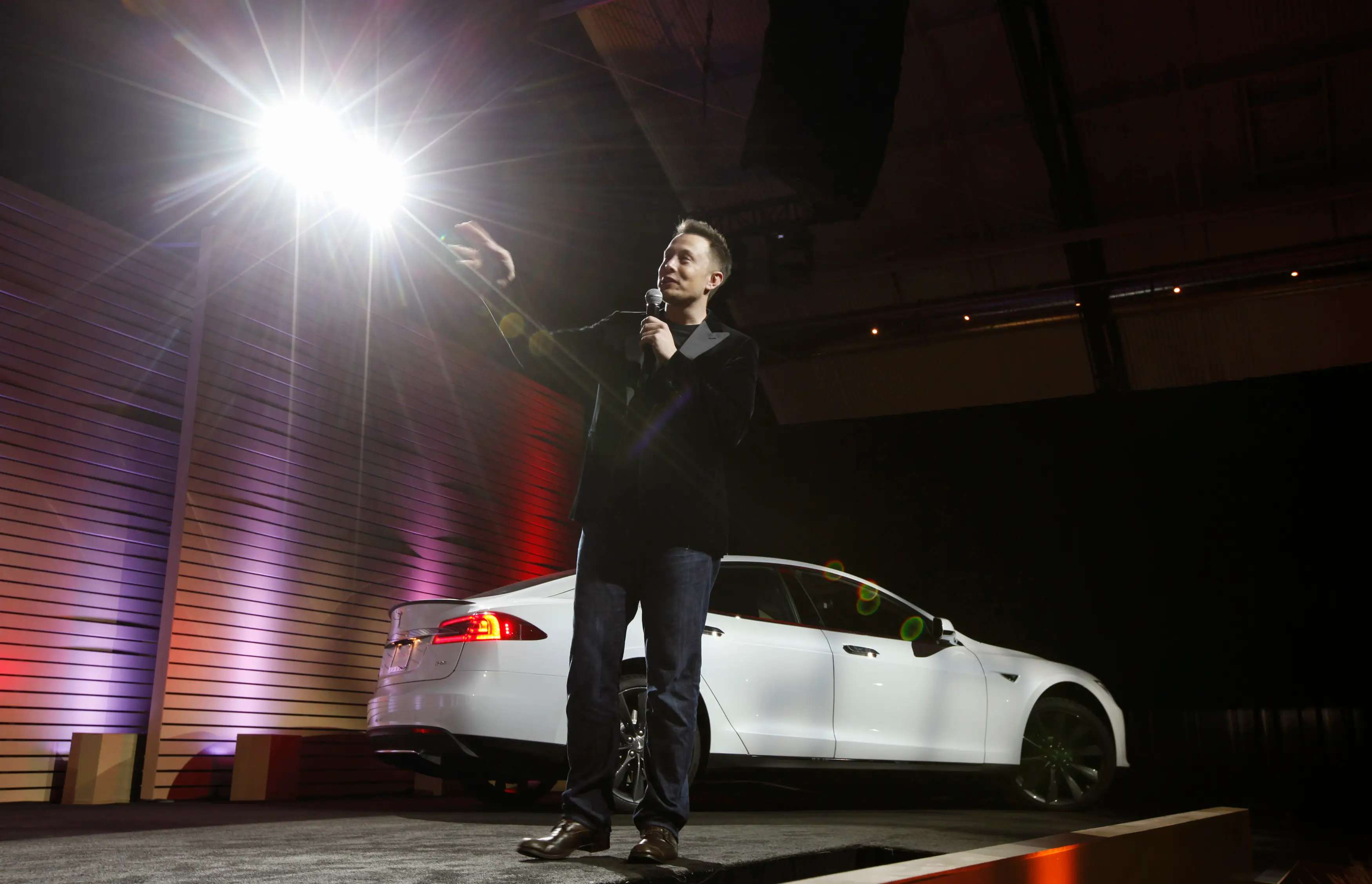 Elon Musk's Tesla Model S rolled out this past summer...