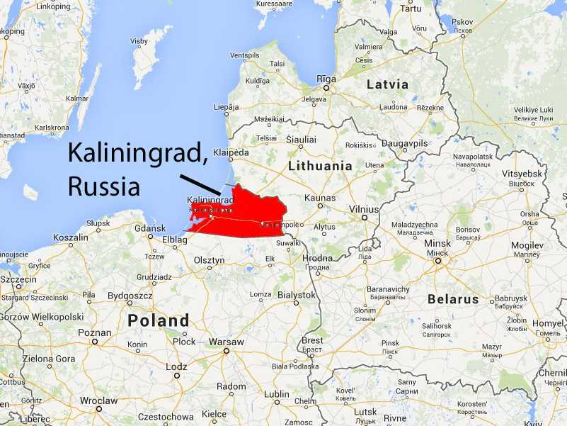 Image result for map kaliningrad
