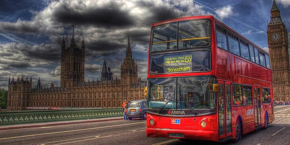 Big ben and double decker bus in London