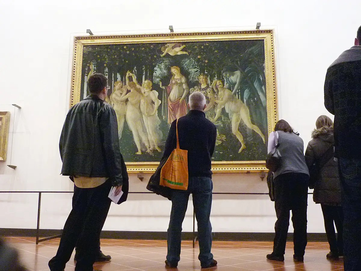 "Seek out Botticelli's masterpieces, ""The Birth of Venus"" and ""Primavera,"" inside Florence's Uffizi Gallery."
