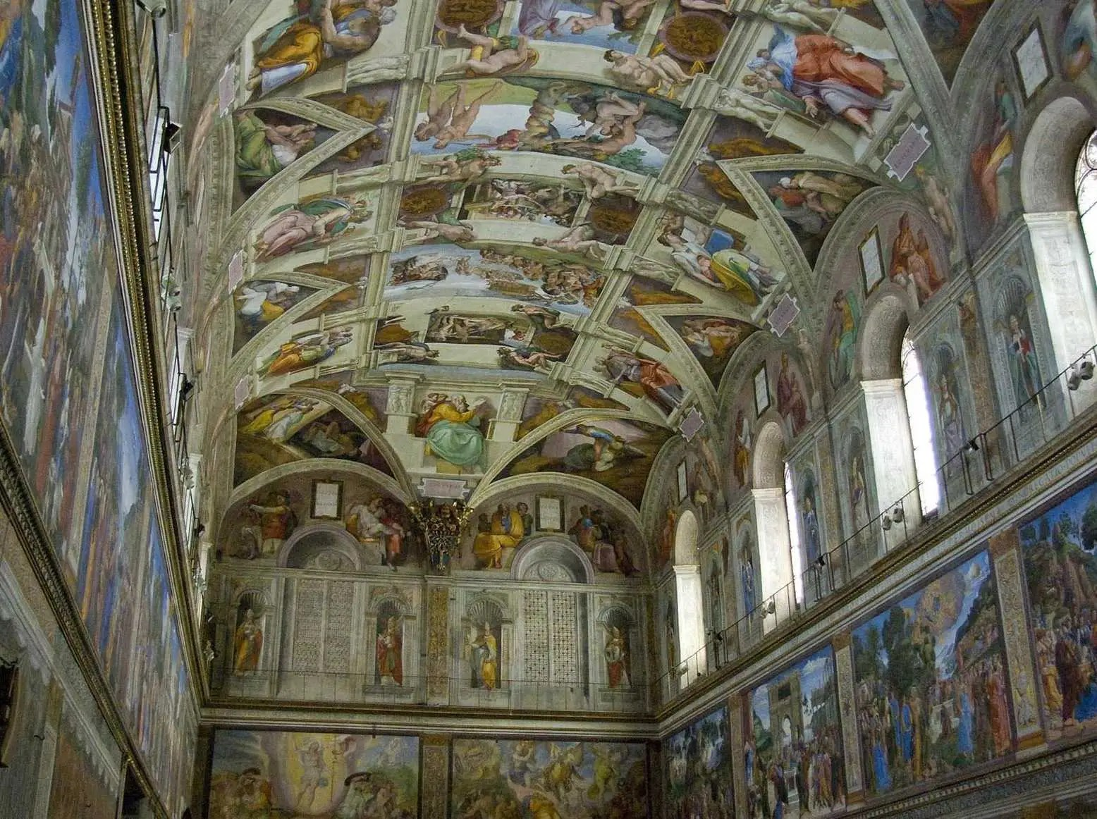 Gaze up at Michelangelo's Sistine Chapel ceiling. Although it's technically in Vatican City, any trip to Rome wouldn't be complete without seeing this esteemed artwork.