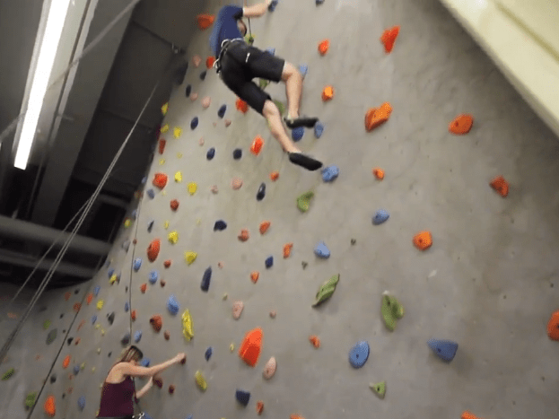 Chesapeake Energy has an indoor rock-climbing wall.