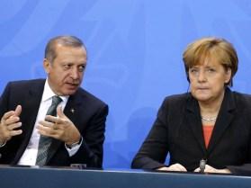 Image result for Turkish President calls for vote against Angela Merkel